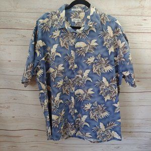 NWT Pierre Cardin Hawaiian Tropical Palm Leaves Bl